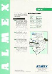 Almex MCC Sales leaflet (rear)