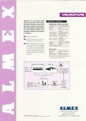 Almex Microfare sales leaflet (rear)