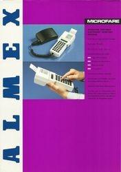 Almex sales leaflet (front)