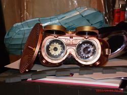 custom goggles with listening device 2