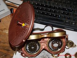 custom goggles with listening device