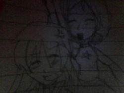 awkward ChiChi photobomb drawing