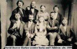 David Beaver Harker and Children