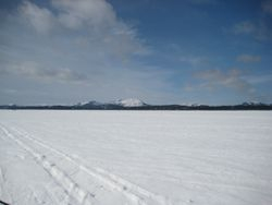 Frozen Canada Bay