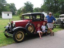 Will and the grandkids, Hunter and Juli