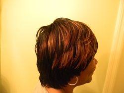 Duby short razor cut wig