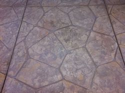 Upclose of Flagstone Stamp Pattern