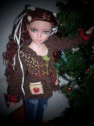 Pretty brown sweater by Karen.