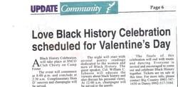 Countrified's black history Celebration.