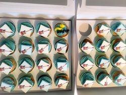 Guitar themed cupcakes