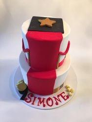 Hollywood Bollywood themed cake