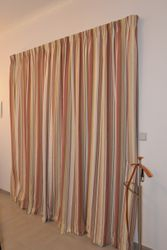 Curtains for double door in master bed to upper patio, includes fittings