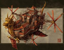 Steampunk Aire Ship