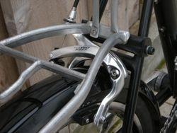 Rear brake and rack mount