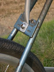 No rear brake!