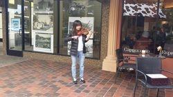 ay 17 Street Busking at Bon Air Shopping Center in Marin, CA