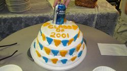 True 2001 party cake!