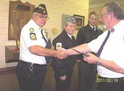 Chief Mac Receiving Meritorius Service Medal