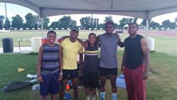 The aspiring 36Eliters hang with the USA track Elite