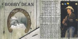 """Bobby Dean CD: """"Enough To Leave"""""""