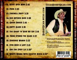 """Bobby Dean CD-Back:  """"WANTED"""""""