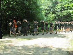 Camp staff make their entrance