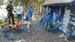 Camp site at Sawyer Pond