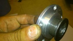 chainring adapter and original nut