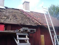 B?rjan av takrenovering aug 2013