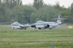 Gloster Meteor NF.11 and DH Vampire