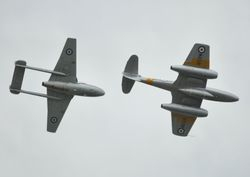 Gloster Meteor and DH Vampire