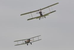 Royal Aircraft Factory BE2e and Bristol F2B