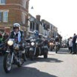 Bikers riding through RWB High Street