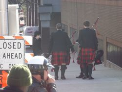 A few bag pipers strolling by