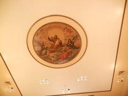 Inside ceiling at St Joe's