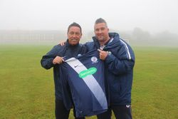 Chairman Enzo Ciappelli with new first team manager Ric Delaney