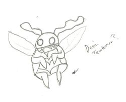 Notebook Doodles: Demi-Tentomon?