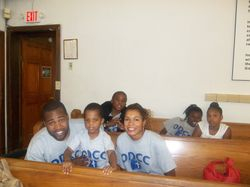 ODCC Members of the Step Team: Brother Maurice, Little DJ, Sharron, little Sean, Synia and her friend