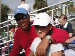 My Dad and I (Clinic With Nick Bolletieri)