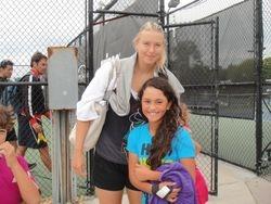 Maria Sharapova & I :)