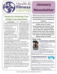 January 2011 24-7 Gym Newsletter