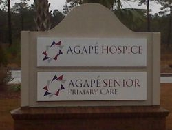 New Hospice and Primary Care Office Location Sign in Conway