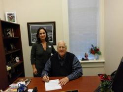 SSA Pam Marion and Lancaster Mayor Joe Shaw