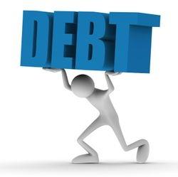 Picture to represent heavy debt