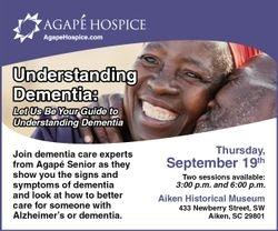 Agape Hospice Aiken Presents Understanding Dementia