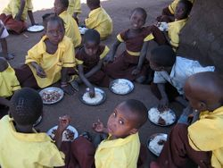Breakfast program in Sena