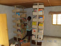 library in Sena being set up