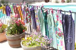 Dresses on the fence