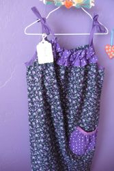 Purple, ruffles and adorable!