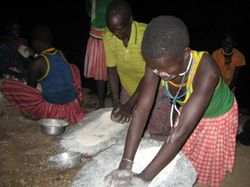Villagers in Pokot, Kenya